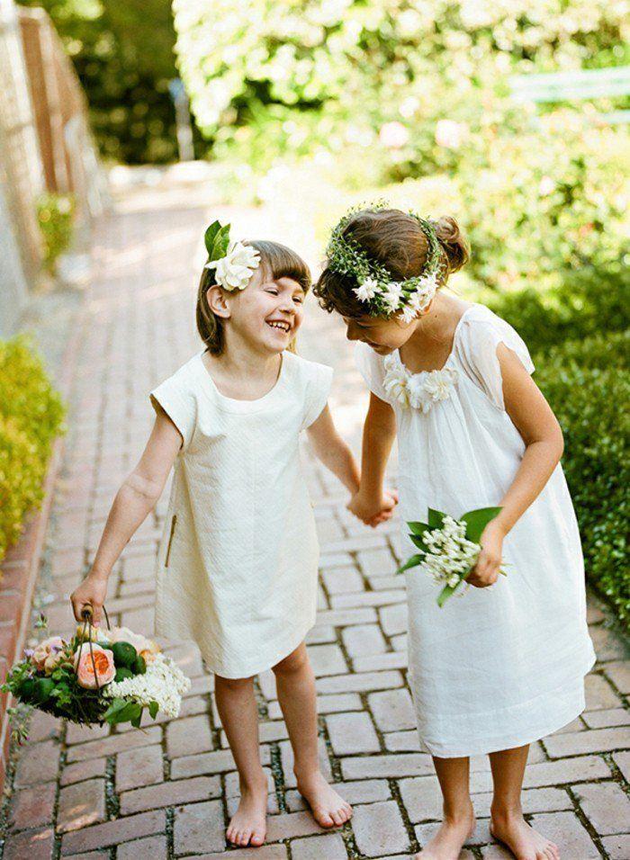 Coiffures des enfants pour un mariage Г la maison