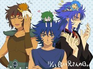 Aioros and Aioria, Ikki and Shun, Saga and Kanon