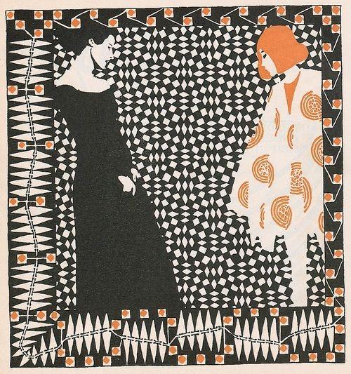 Early Spring (for a poem by Rainer Maria Rilke) - Koloman Moser illustration from Ver Sacrum, 1901