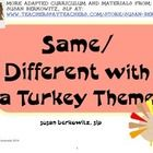 "I added ""SAME DIFFERENT PRACTICE FOR THANKSGIVING FOR SPEEC"" to an #inlinkz linkup!http://www.teacherspayteachers.com/Product/Same-Different-Practice-for-Thanksgiving-for-Speech-Therapy-Game-or-Task-Cards-1527343"
