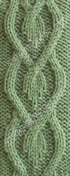 Unusual Knitted Cable Pattern Russian Site No Translation On Page