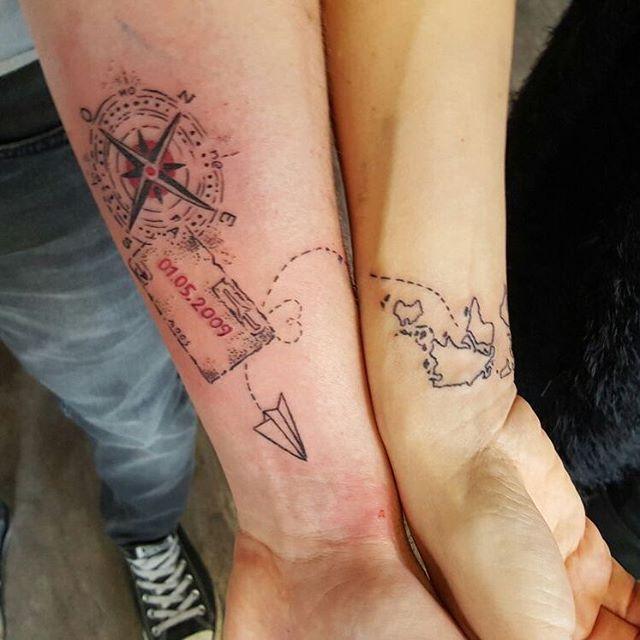 Süße Partner-Tattoos   Tattoo ideen, Tattoos