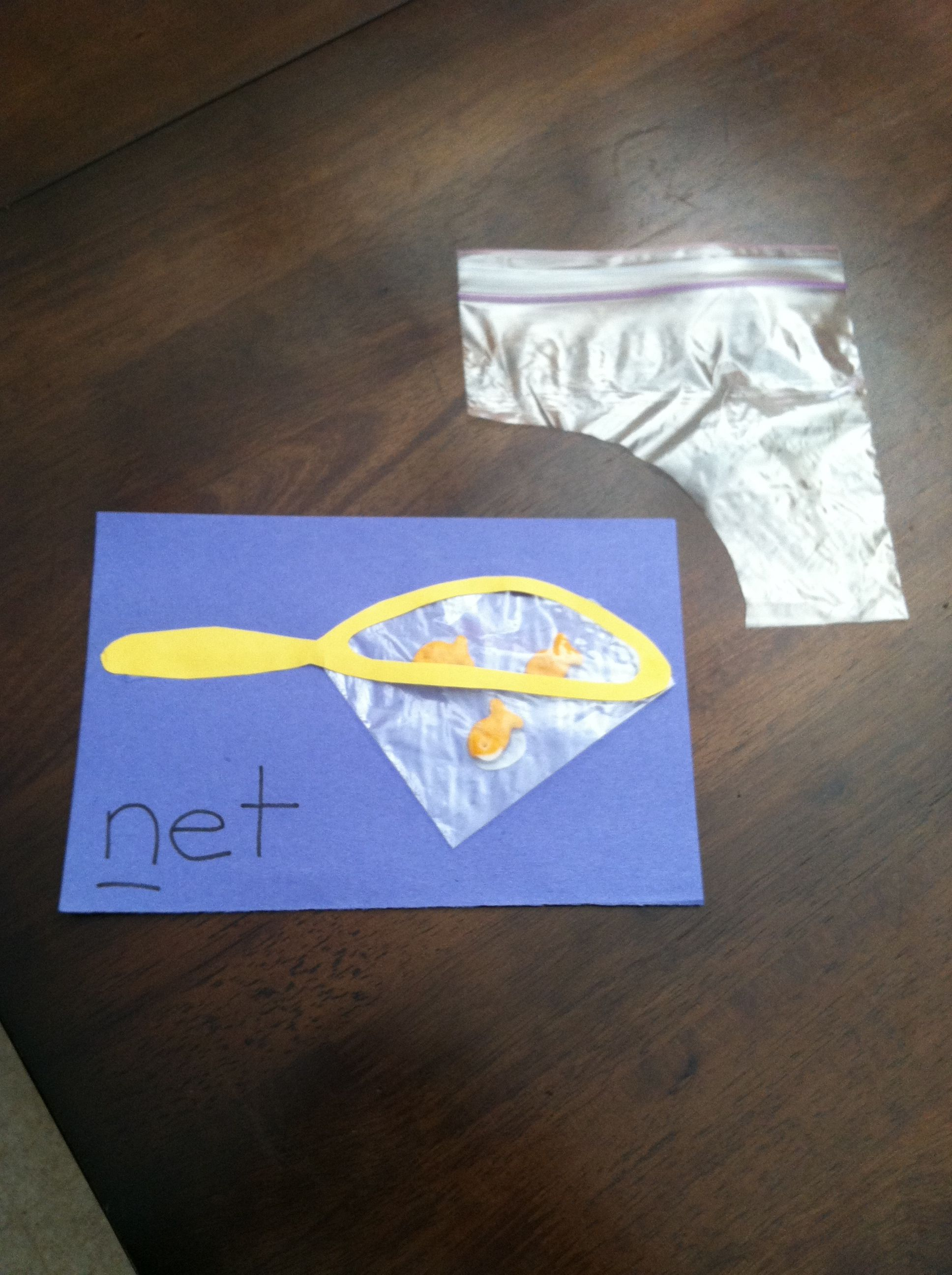 Letter N N Craft Made From Sandwich Bag Corner Craft