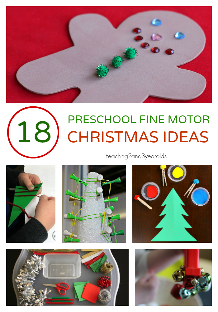 15 Fun Christmas Fine Motor Activities Preschool Christmas Crafts Preschool Christmas Christmas Activities
