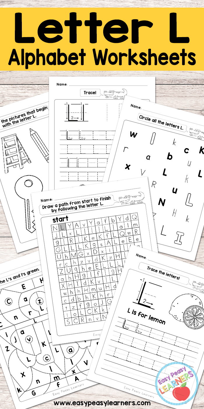 free printable letter l worksheets alphabet worksheets series activities for kids. Black Bedroom Furniture Sets. Home Design Ideas