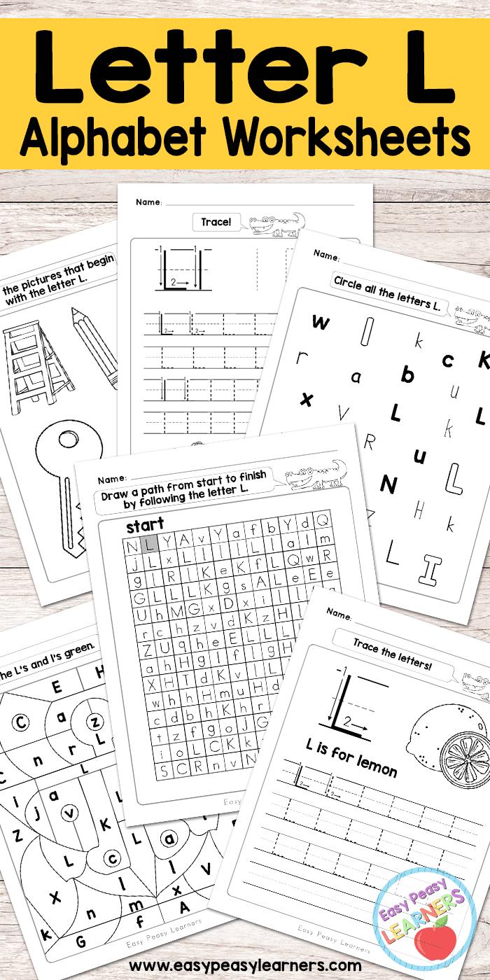 Free Printable Letter L Worksheets - Alphabet Worksheets Series