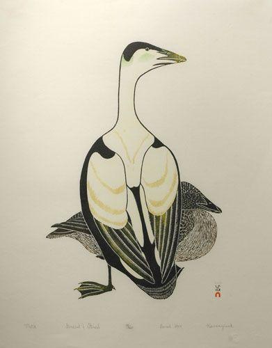 kananginak pootoogook inuit art print | Home Inuit Art of Canada and Alaska Print Graphics Metik (1977)
