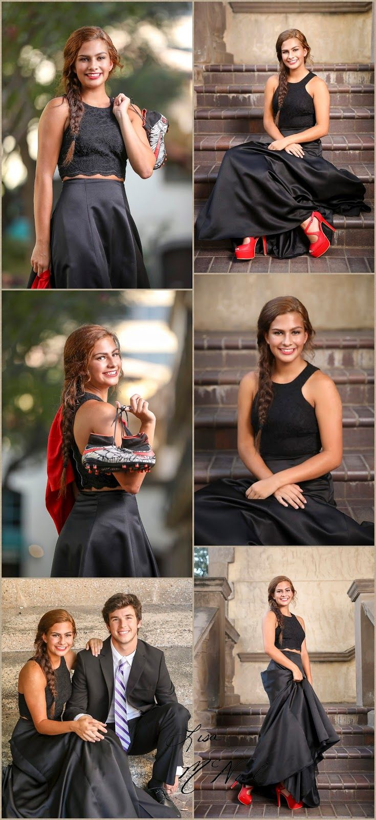 How to take Prom Pictures. Prom Senior Group and Individual Ideas by Dallas Photographer Lisa McNiel #promphotographyposes