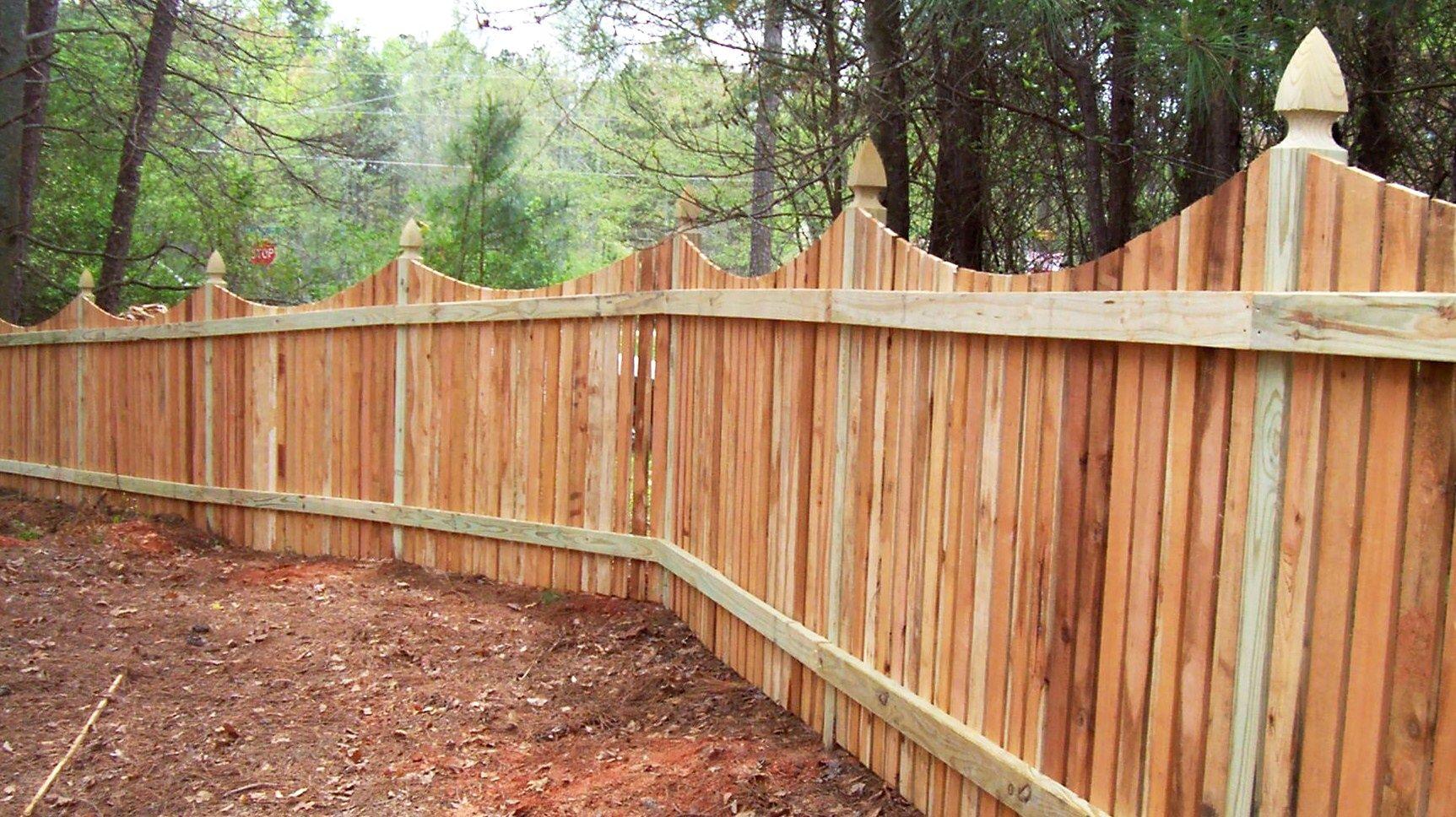 Saddle cut picket fence design mossy oak fence company orlando saddle cut picket fence design mossy oak fence company orlando melbourne baanklon Choice Image