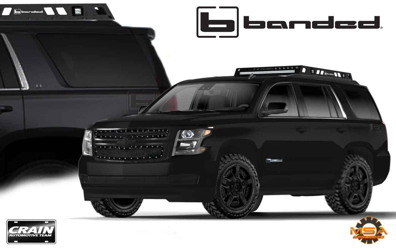 Rendering Of 2016 Banded Edition Tahoe For Client Embossed Banded