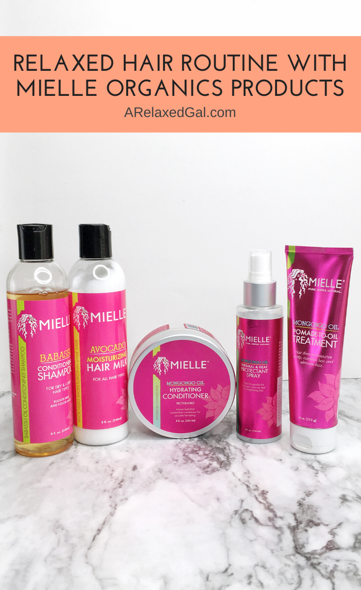 A Relaxed Hair Wash Day With 5 Mielle Organics Products in