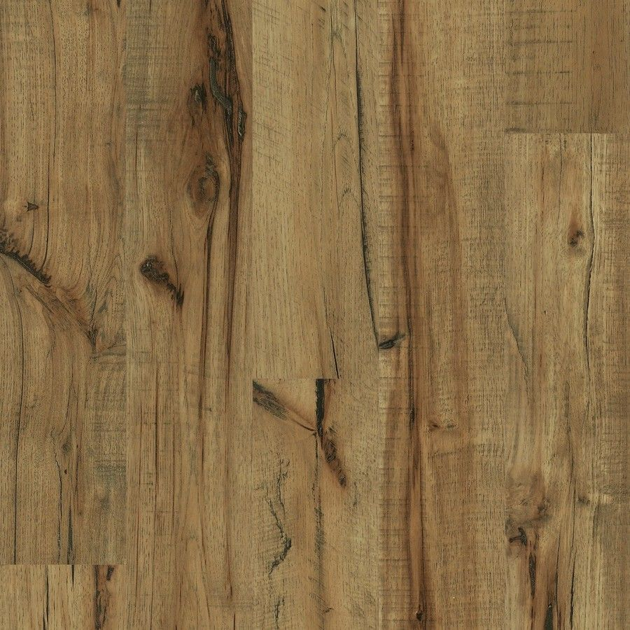 lowes kitchen flooring Style Selections 5 43 in W 3 ft L Antique Hickory Handscraped Laminate Wood Planks LX