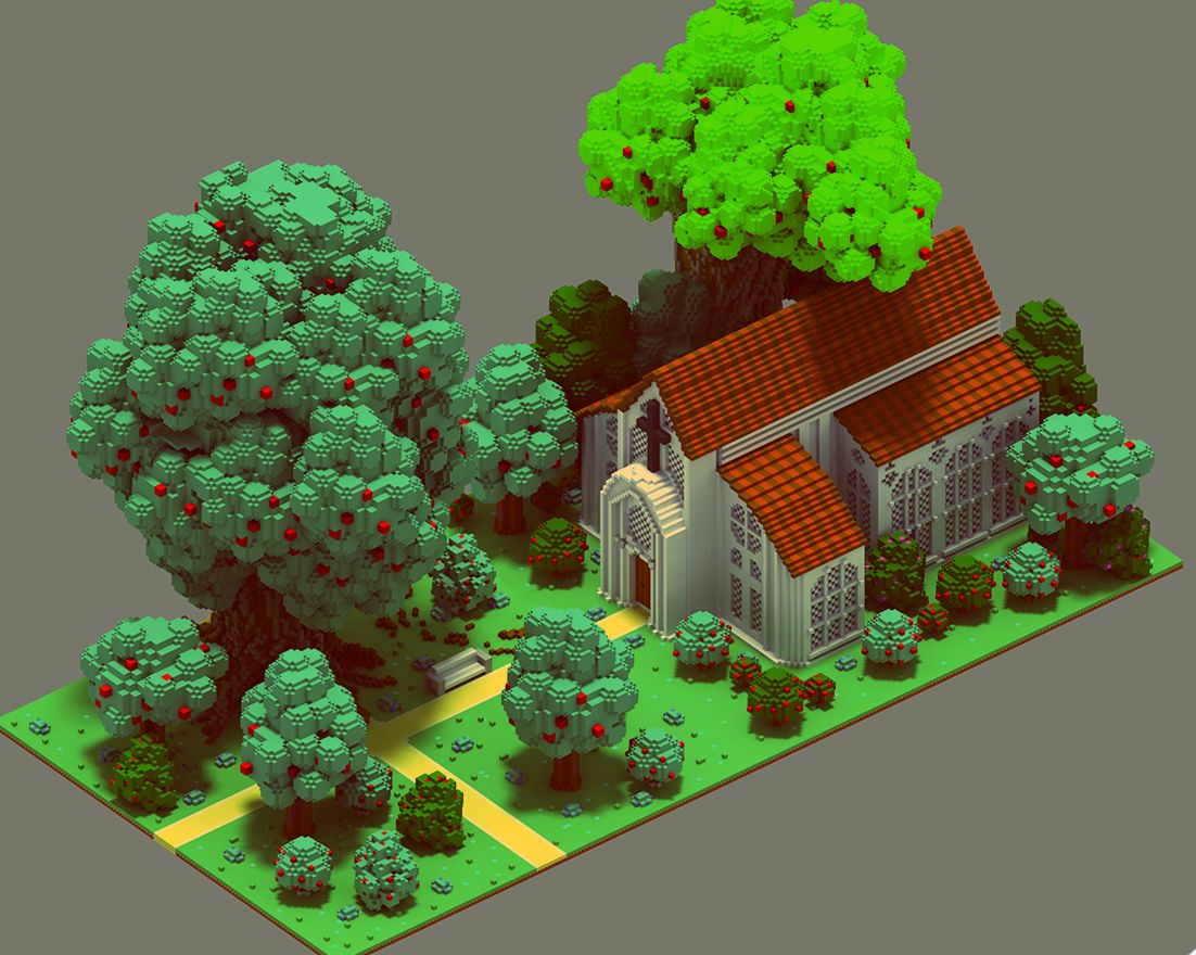 Sir Carma has a hobby and it's to make Voxel Art
