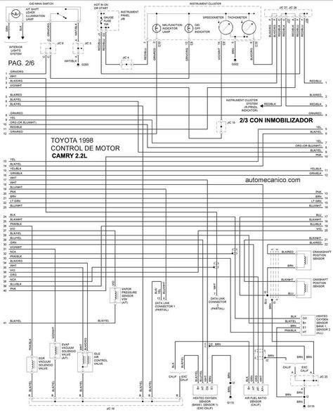 Diagrama De Motor Toyota Camry   7 In 2020
