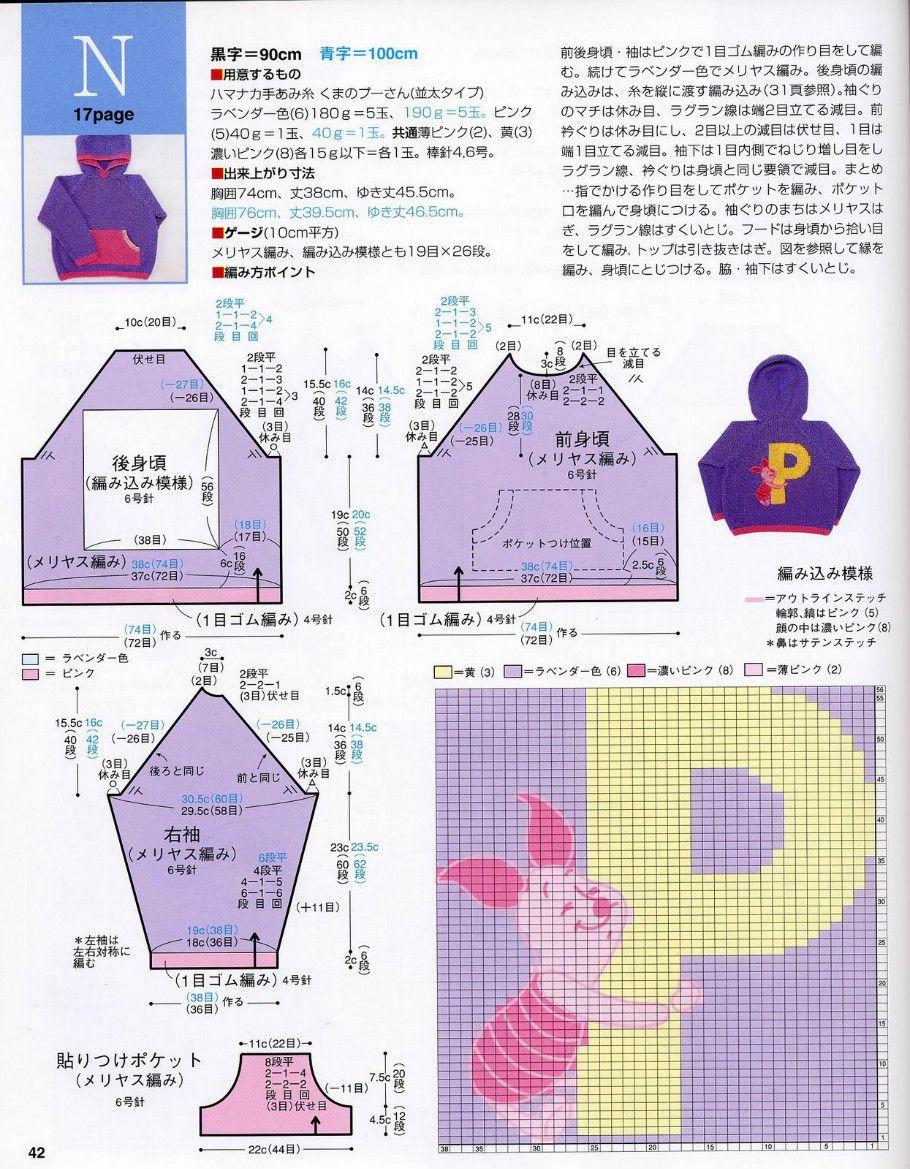 Piglet intarsia sweater pattern | knitting | Pinterest | Tejido