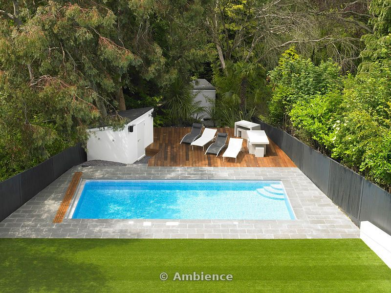 Ambience Images White House, outdoor pool and decked