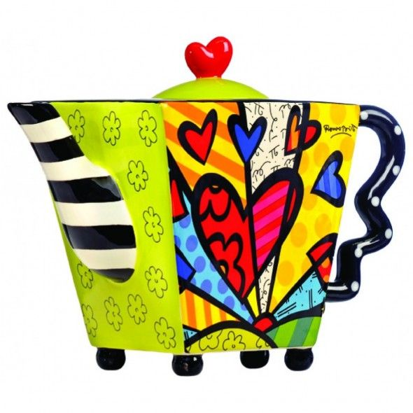 Romero Britto Square Teapot with Heart http://www.kitchenwarehouse.com.au/romero-britto-square-teapot-with-heart.html