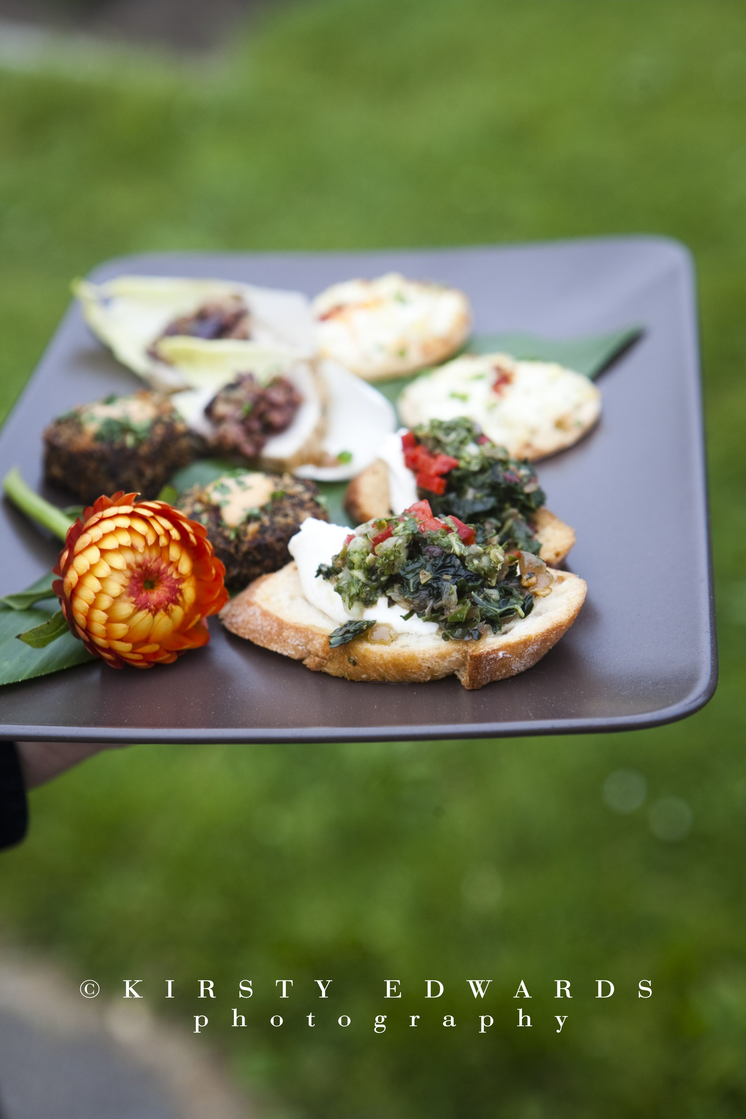 Hors Doeuvres From Bi Rite Catering Beth Jeff Kirsty Edwards Photography