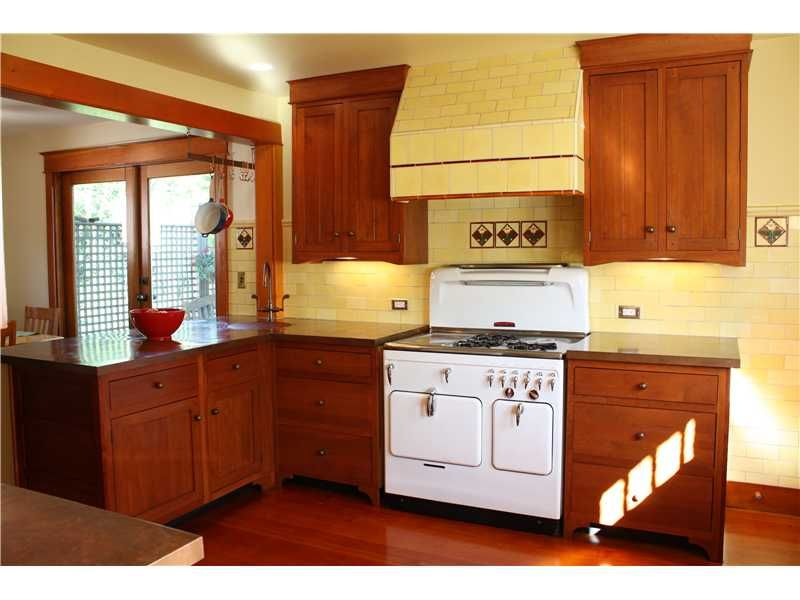 Chambers Stove - Kitchen with DIY copper countertops ...