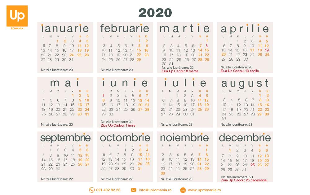 Calendar Zile Lucratoare 2020 Up Romania In 2020 Calendar 2020 Blank Calendar Template Calendar