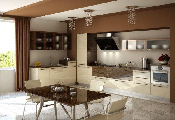 Кухня цвета кофе с молоком | Интерьер, Кухня, Дизайн