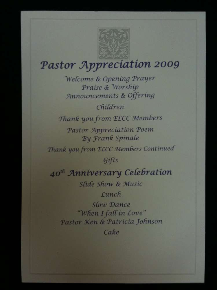 Pastor anniversary service program template pastor anniversary pastors appreciation and 40th wedding anniversary catchmyparty stopboris Image collections