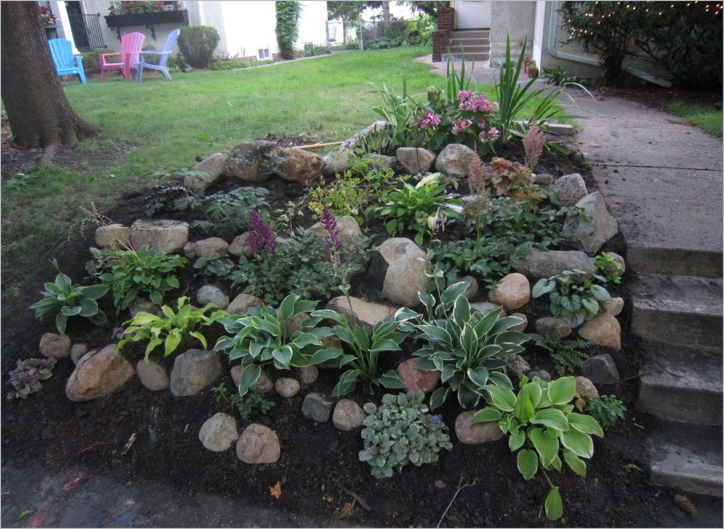 landscaping ideas shady hillside