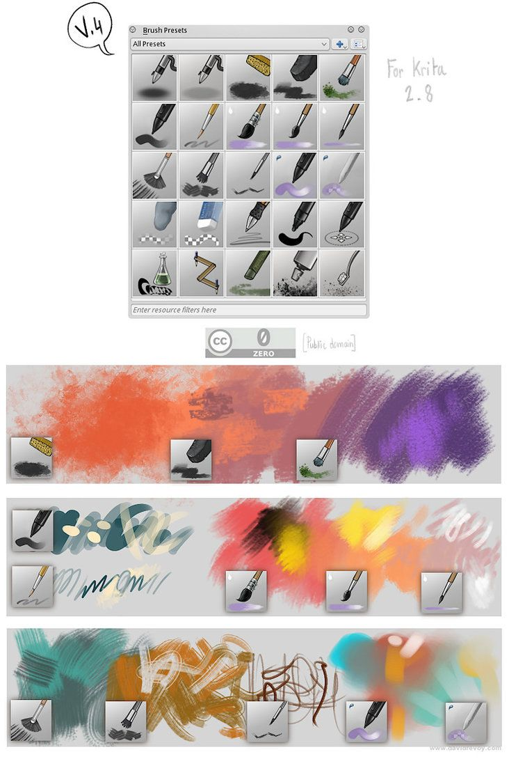 Krita Brushes V4 By Deevad On Deviantart Digital Art Design