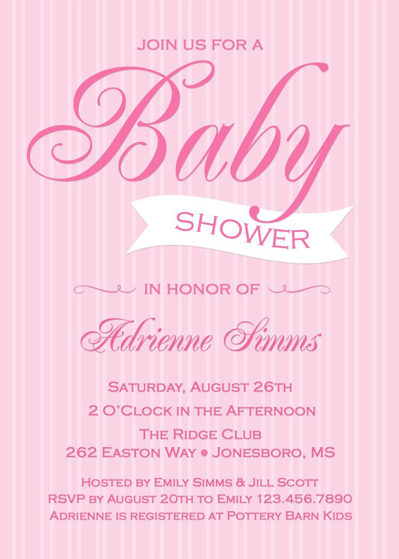 Modern Simple Chevon Baby Shower Invitation Gender Neutral Shower