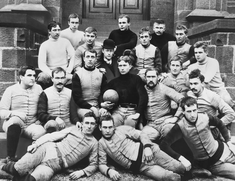 The First College Football Game Looked Nothing Like Today S Game Day Spectacles College Football Teams College Football Games Team Photos