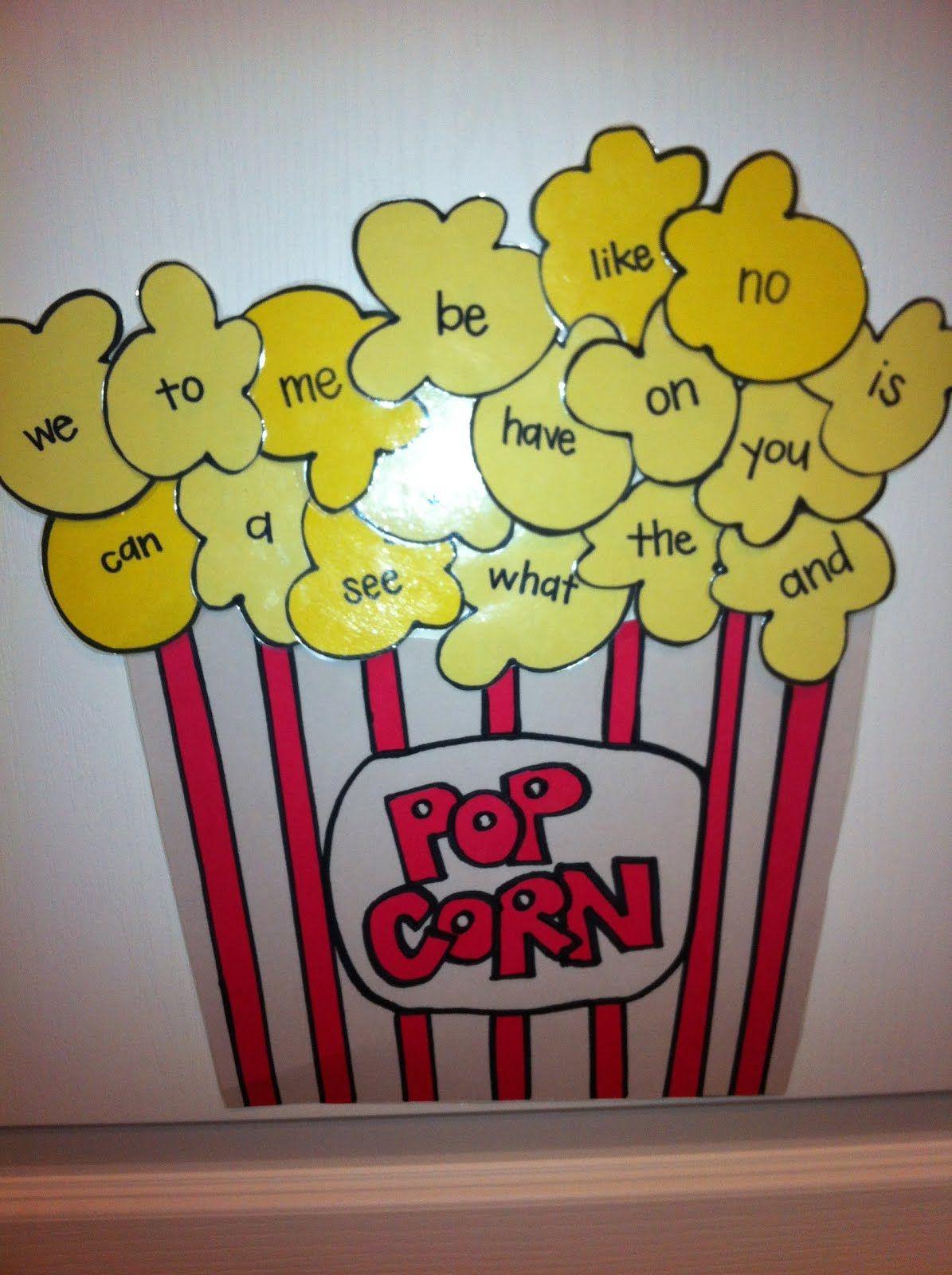 Popcorn Seight Words 1 195 1 600 Pixels