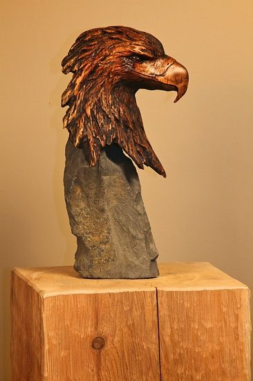 carved-eagle-bust-w-basalt-stone-base.jpg (366×550)