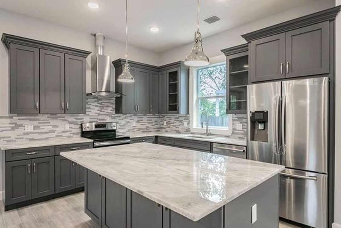 5 Ideas To Be Creative With Your Grey Kitchen Cabinet Talkdecor In 2020 Kitchen Cabinet Design Kitchen Design Kitchen Remodel