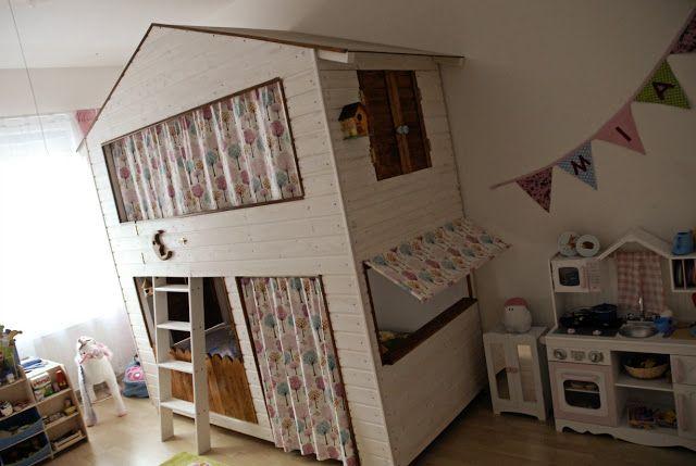 Etagenbett Kinder Abenteuer : Diy inspiration für kinder hochbett haus hochbetten und