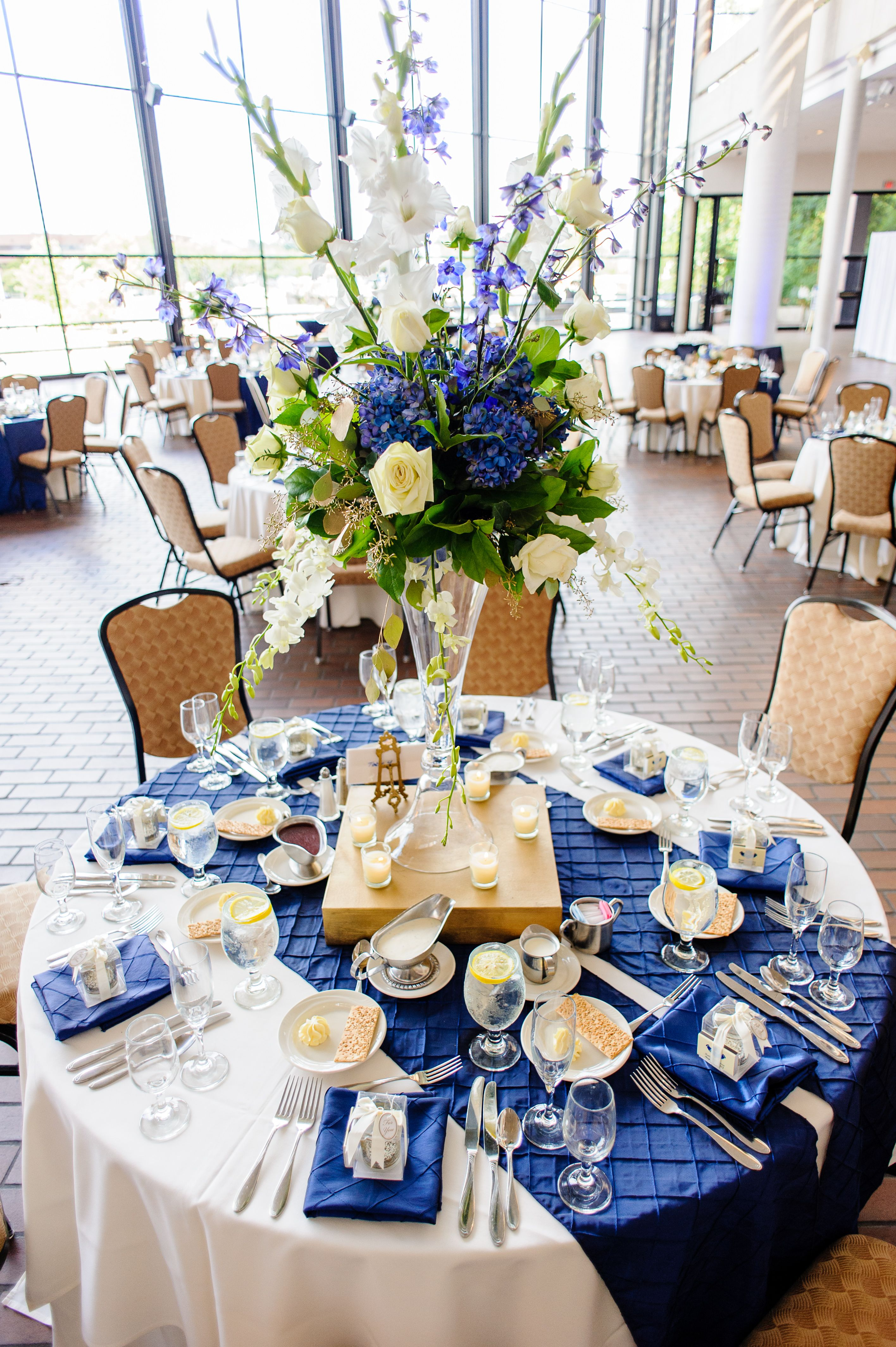 A floral explosion wedding designs pinterest floral for Blue wedding reception ideas
