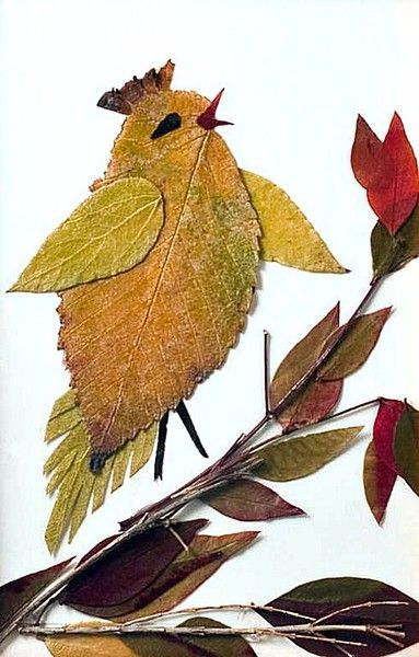 20+ Creative Leaf Animal Art #leafcrafts