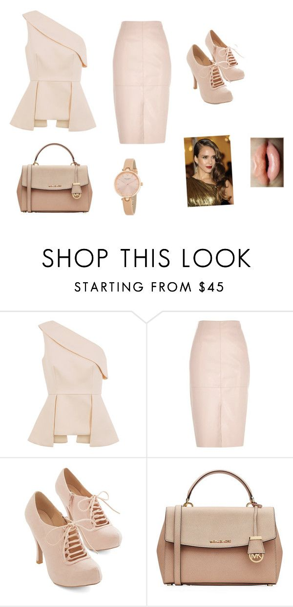 """Patricia"" by laporshia ❤ liked on Polyvore featuring C/MEO COLLECTIVE, River Island, MICHAEL Michael Kors and Kate Spade"