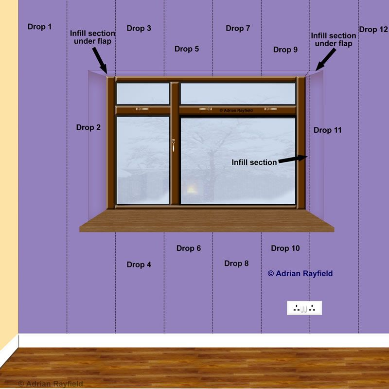How to wallpaper around a window or door reveal :: Painting   Android   Wallpaper, How to hang ...