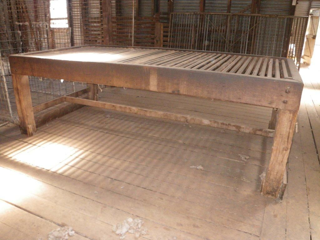 Wool classing table - 9 ft long, 4 1/2 ft wide, 3 feet tall | shear ...
