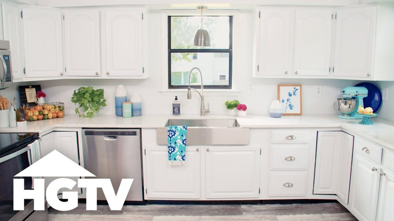 How To Paint Kitchen Cabinets Hgtv Youtube Painting Kitchen Cabinets Kitchen Cabinet Design Kitchen Cabinets