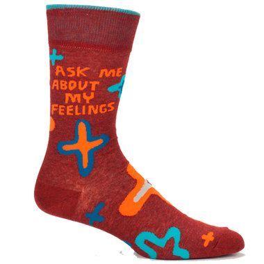 c8168a3ac933 Men's Ask Me about My Feelings Socks | Products | Cool socks, Socks ...