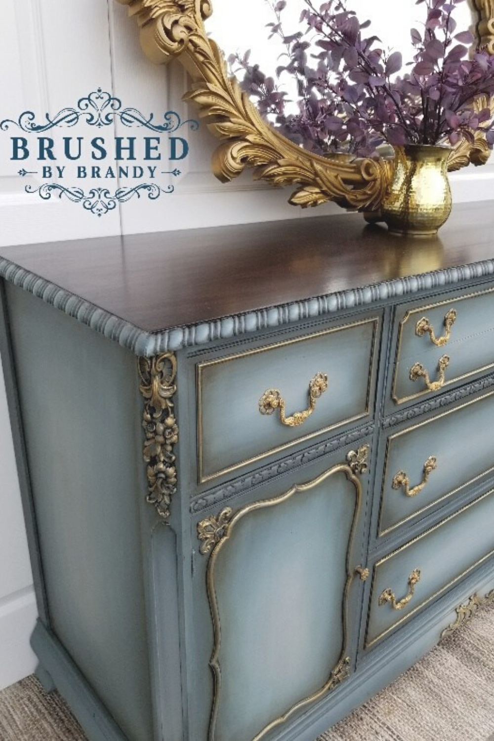 Blended Blue Buffet Full Painting Tutorial   Brushed by ...