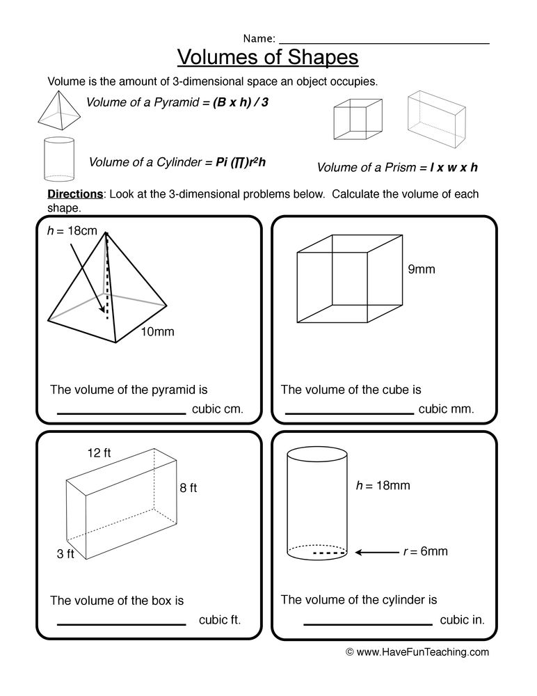 Math Resources Have Fun Teaching Shapes Worksheets Dimensional Shapes 3d Shapes Worksheets