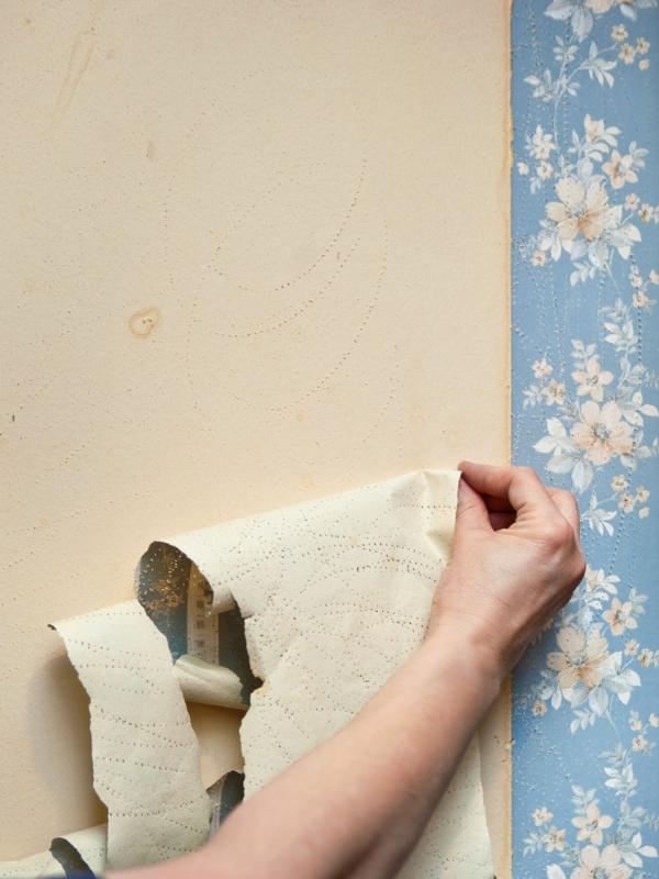 7 pas à suivre pour décoller du papier peint facilement en 2020   Enlever papier peint