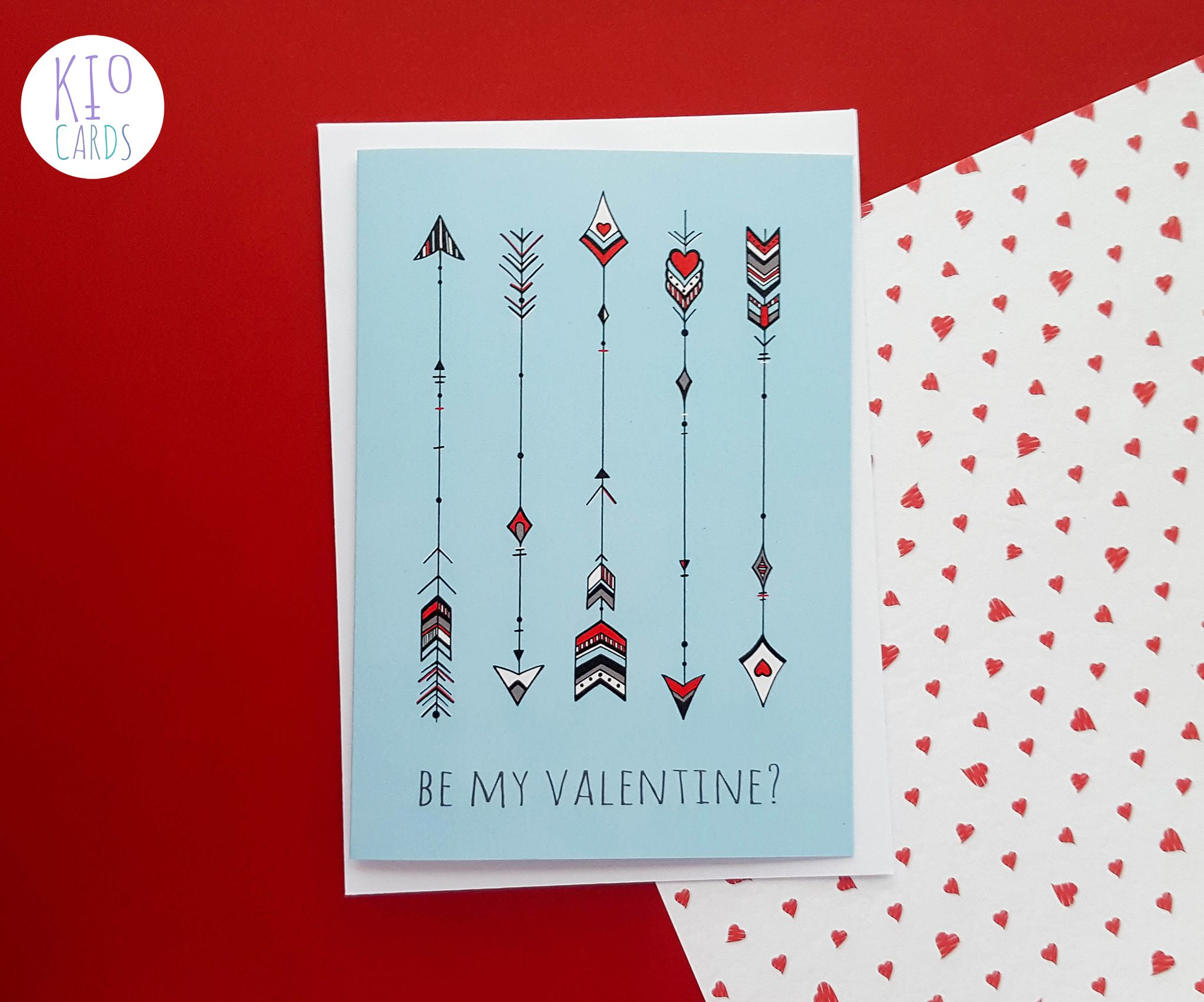 Lovestruck Handmade Valentines Card  KIO Cards romantic love