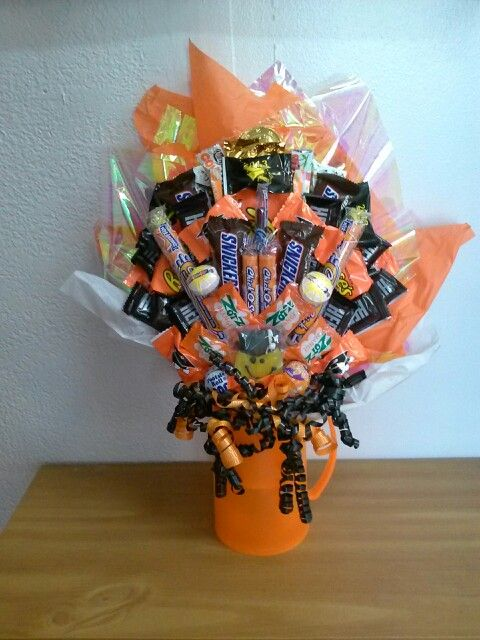 Graduation candy bouquet present tips pinterest