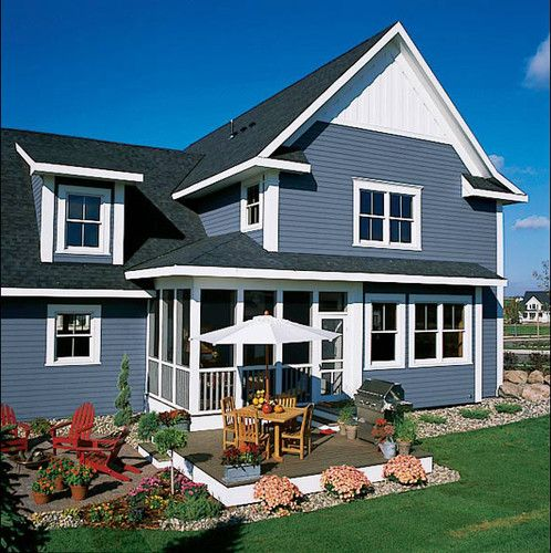 Long Lasting Exterior House Paint Colors Ideas: Love The One Step Wood Deck With Dinner Seating And Grill