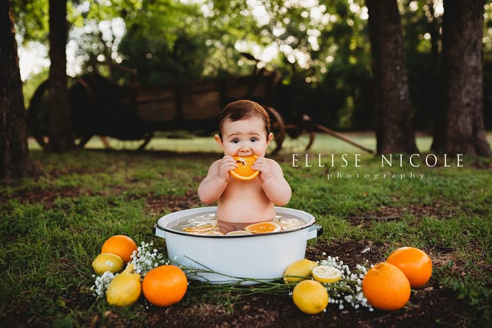 Baby orange bath photos #milkbath