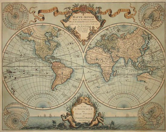 A Changing World The Great French Cartographer Guillaume De L Isle Made The First Version Of This Map In 1700 This 174 Vintage Map Vintage Maps Map Wallpaper