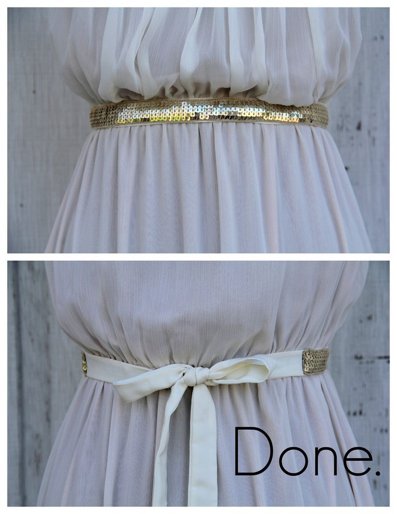 DIY Style How To Make A Sequin Sash Belt by Kristina J